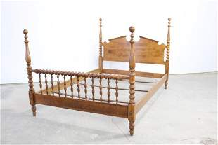 Bobbin Turned Wooden Farmhouse Cannonball Poster Bed