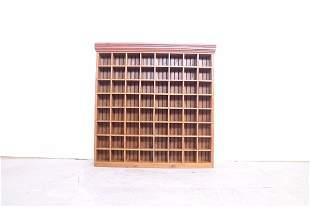 Wood Shelf for Shaving Mugs Display, 64 Display Squares