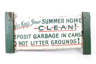 """""""Help Keep Your Summer Home Clean!"""" Painted Wood Sign"""