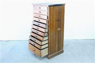 Tall Wood Multi-Drawer Cabinet,Flat File Display