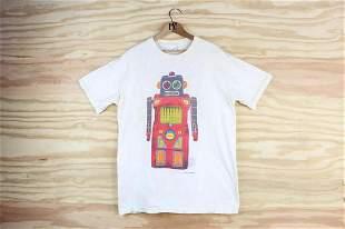 Off White L Stanley Desantis Robot Vintage T-Shirt