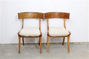 Pair of Danish Klismos Chairs,Mid Century Modern