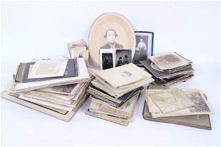 Large Lot of 19th C Photographs,Cabinet Cards&Tin Type