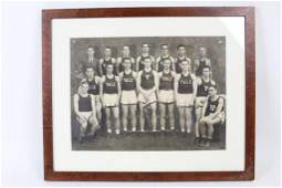 Framed B&W Photograph Yale Boxing Team 1920