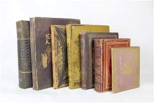 Lot of 7 Antique 19th c. Religious Books, Bibles, Dore