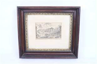 Framed Engraving,Veduta Di Piazza Spagna,G.B.Piranesi