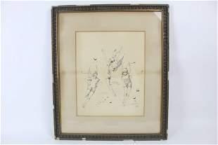 Ink Illustration 3 Foolish Fairies J. McDermott 1886