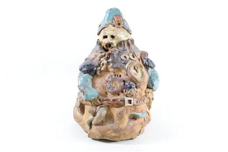 Handmade Folk Art Napoleon Ceramic Stoneware Sculpture