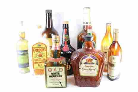 Lot 10 Oversized Store Display Liquor Bottles,1of3