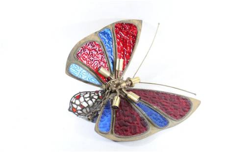 Stained Glass Butterfly Chandelier,Mid-century Modern