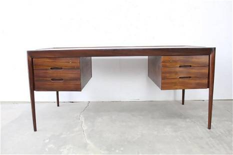 Danish Mid-Century Modern Rosewood Desk Pullout Drawers