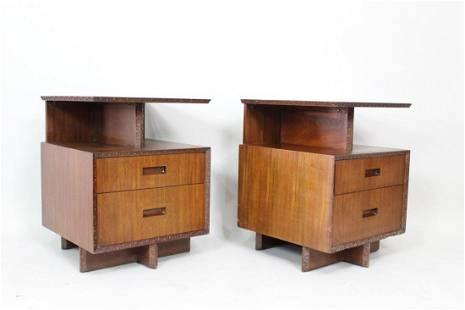 2 Frank Lloyd Wright Taliesin Henredon Mahogany Tables