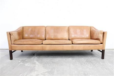 Niels Eilersen Mid Century Modern Danish Leather Sofa