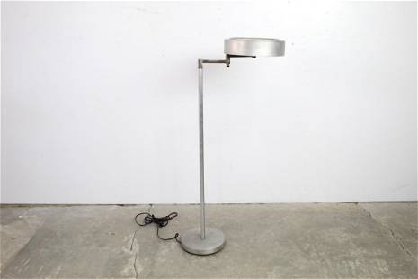 Industrial Round Metal Adjustable 3 Light Floor Lamp