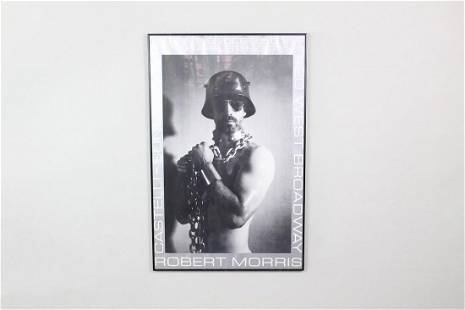 Framed NYC Gallery Exhibition Poster 1974 Robert Morris