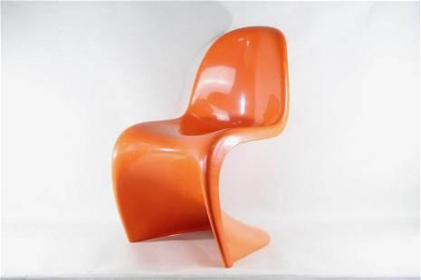 Modernist Orange Herman Miller Plastic Panton Chair