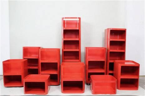 28 Kartell Anna Castelli Componibili Trolley Shelves