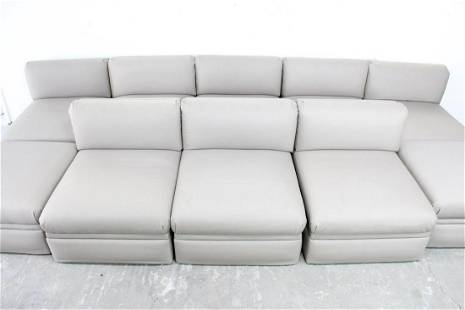 Donghia 8 Piece Modular Sofa Sectional Couch w/Ottomans