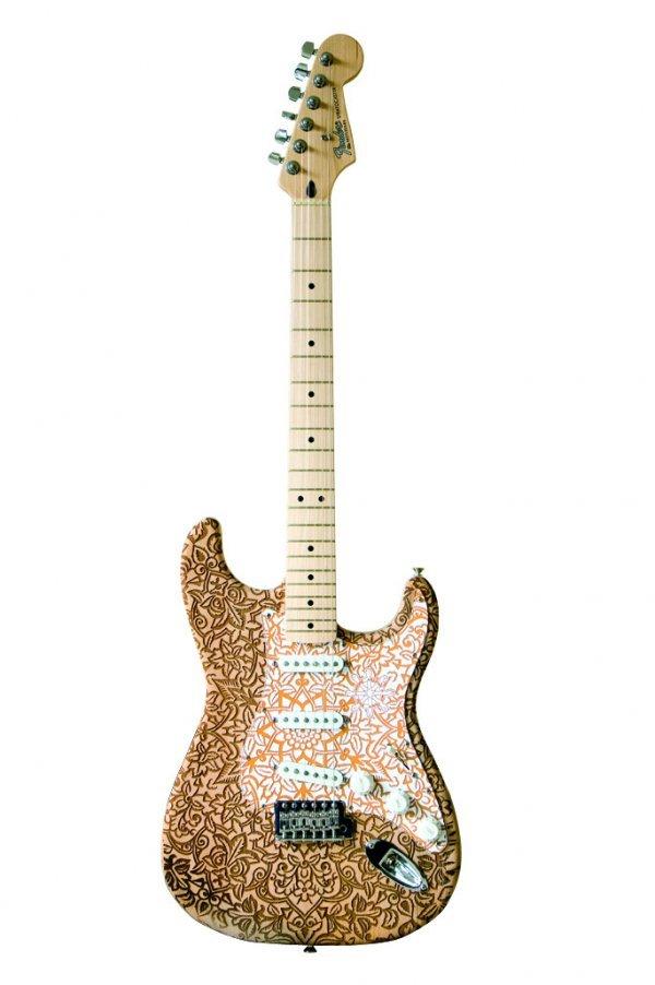 1: Buddhistpunk-Etched Fender® Stratocaster®