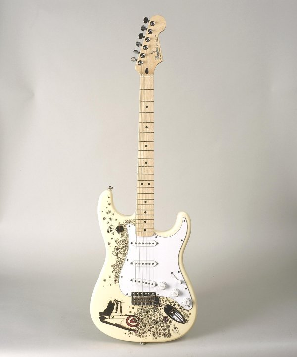 4: Bono -Stratocaster® featuring images by Bono