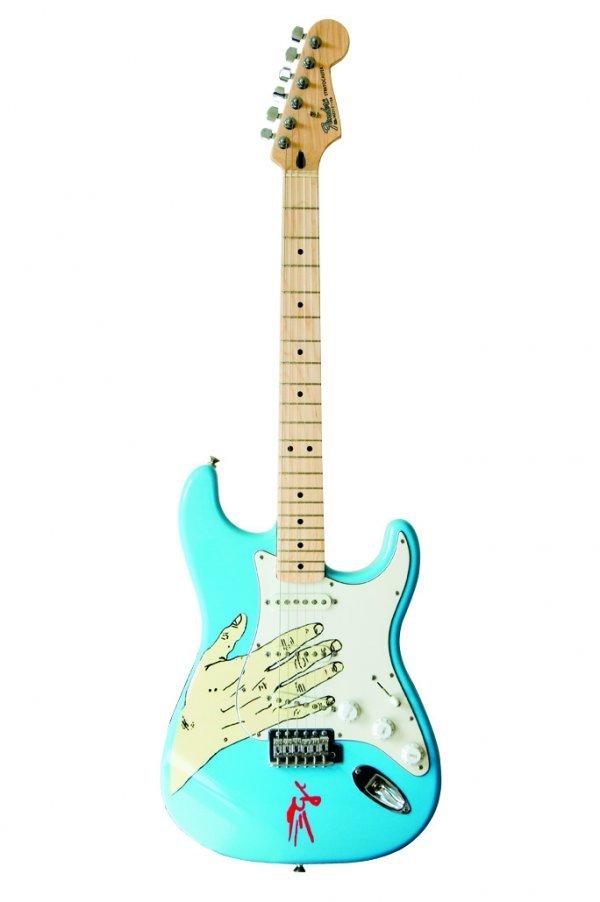 12: Graham Coxon -Fender® Strat® with illustration