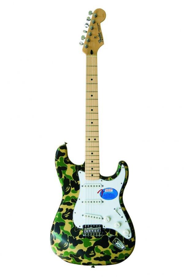 22: Nigo - A Bathing Ape Stratocaster® in BAPE camo