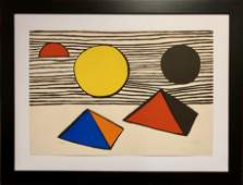 Alexander Calder, Large original hand signed lithograph