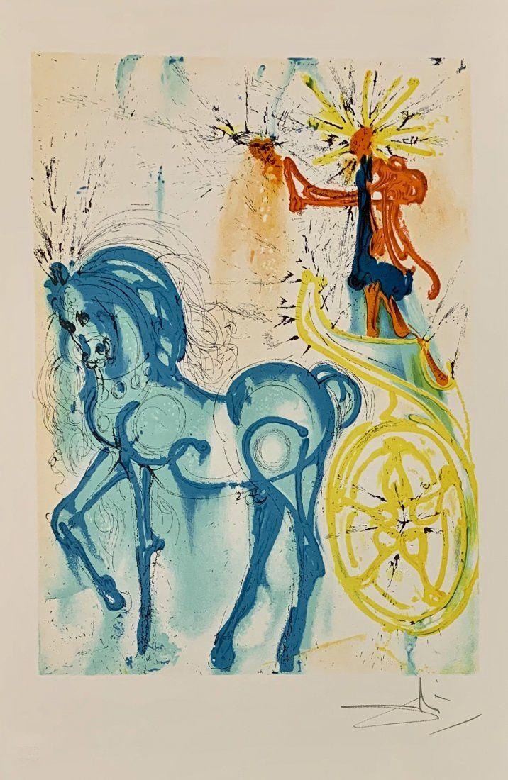 """Salvador Dali, original color lithograph, """"Triomphe"""""""