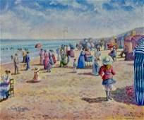 """H.Claude Pissarro, Original oil on canvas """"(Riva-Bella)"""