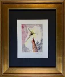 Salvador Dali, Hand signed original color woodblock