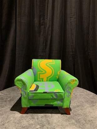 "Steve Kaufman, Painted Sculpture, ""Love Seat"""