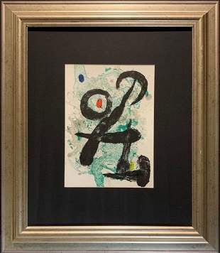 "Joan Miro, Original lithograph, ""The Faun."""