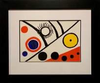 Alexander Calder, Original color lithograph, 1976