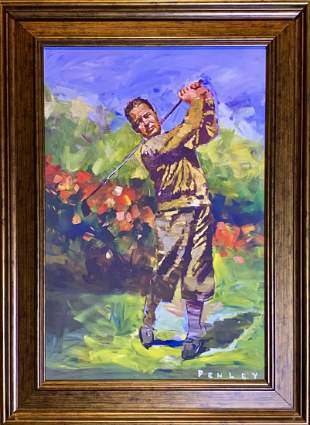 "Steve Penley, Giclee on canvas, ""Bobby Jones"""