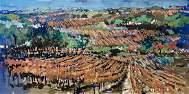 "Steve Penley, Original acrylic on canvas ""Vineyard"""