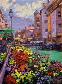 """Howard Behrens, embellished giclee on canvas, """"Magical"""""""