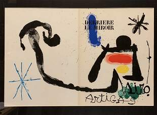 "Joan Miro, Original lithograph, ""Derriere Le Miroir"""