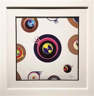 "Takashi Murakami, ""Jellyfish Eyes White I"" Lithograph"