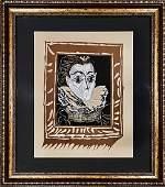 """Pablo Picasso, Color lithograph """"La Femme a la Fraise"""""""