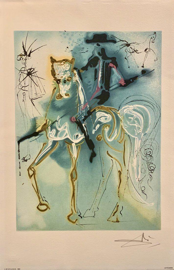 "Salvador Dali, Original color lithograph, ""Le Picador"""