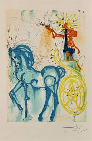 "Salvador Dali, original color lithograph, ""Triomphe"""