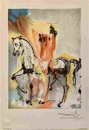 """Salvador Dali Original color lithograph """"Chrétien"""""""