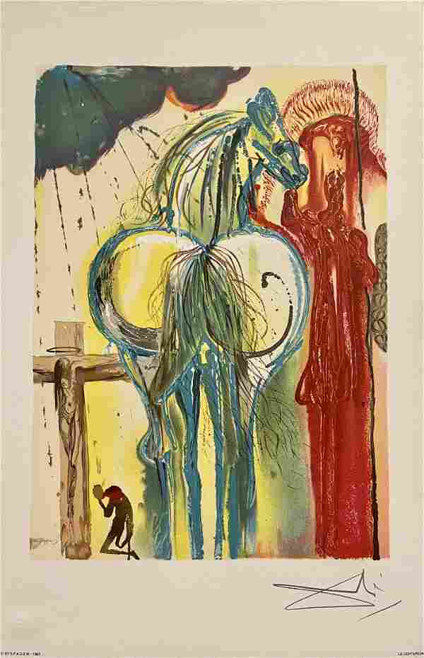 """Salvador Dali, Original color lithograph, """"Centurion"""""""