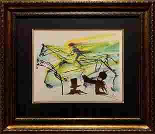 "Salvador Dali, Original color lithograph, ""Course"""