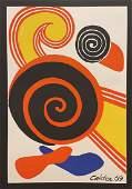 "Alexander Calder, Original color lithograph, ""Spirals"""