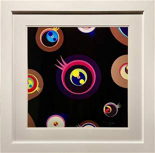 "Takashi Murakami, ""Jellyfish Eyes Black I"" Lithograph"