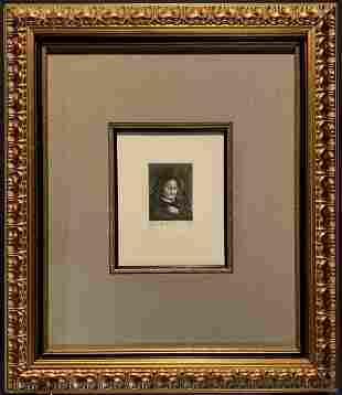 Rembrandt Harmenszoon Van Rijn, Original etching, COA