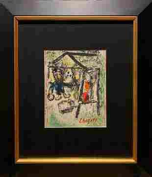 Marc Chagall, original color lithograph, 1969