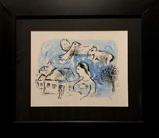 Marc Chagall, original color lithograph, 1977