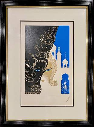 Erte, hand signed and numbered lithograph